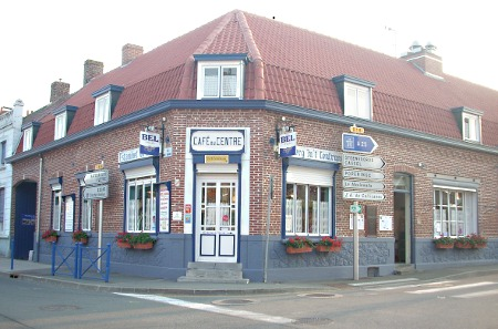Estaminets flamands : L'estaminet du Centre ( ou Café du Centre) à Godewaersvelde
